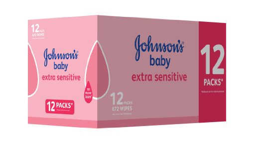 12x packs of Johnson's wipes; now just £7 at Amazon!