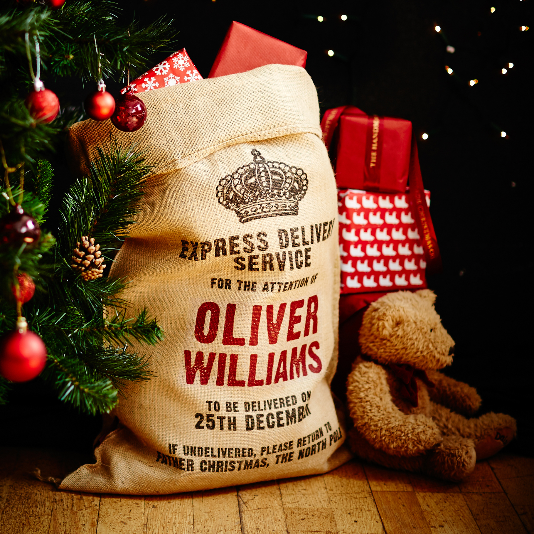 Livingsocial deal | Personalised Christmas Sack
