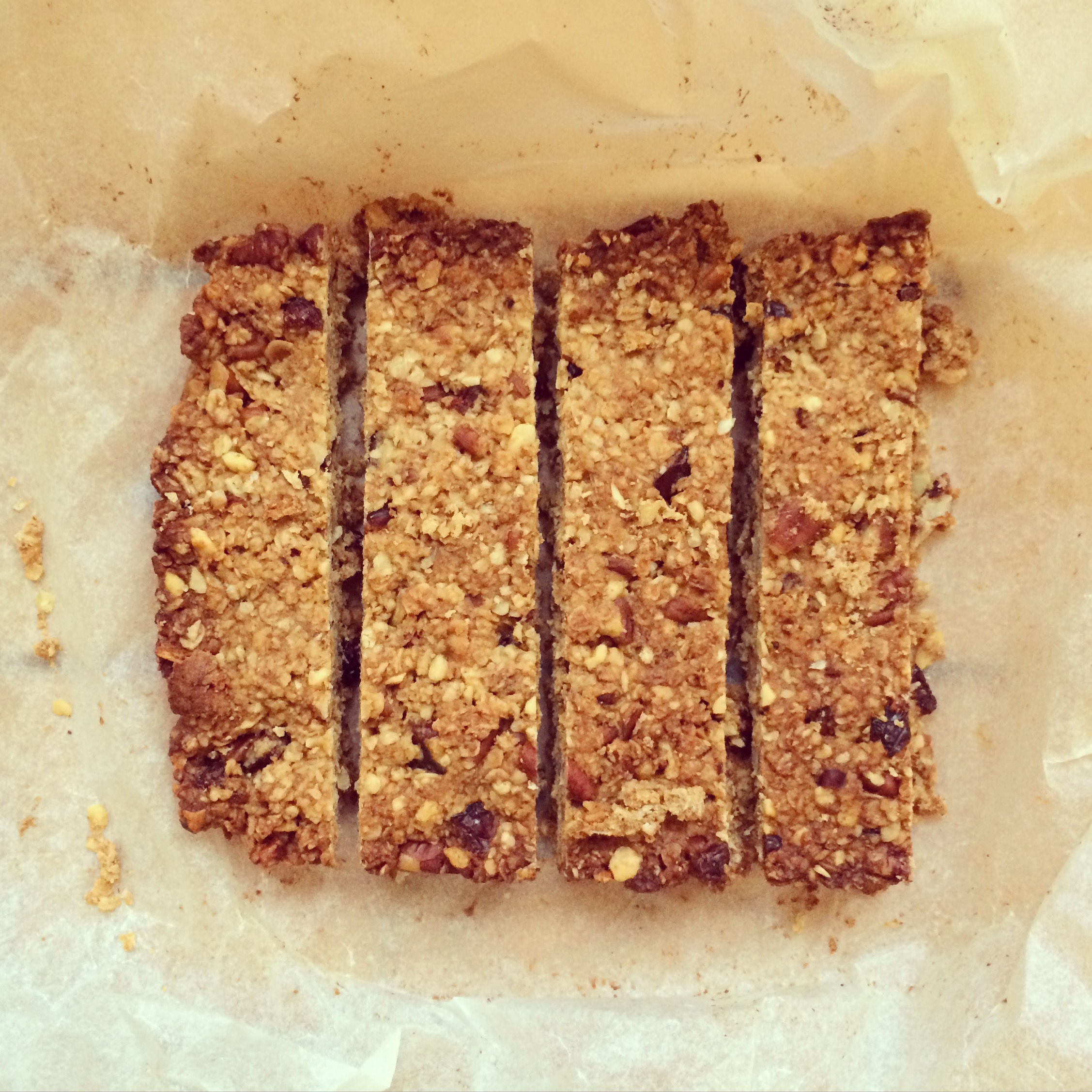 Recipe | Honey, Pecan & Cranberry Granola bars