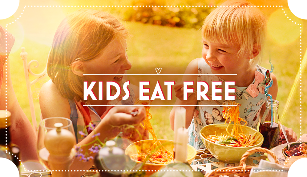 Kids Eat Free throughout the Summer